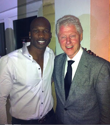 Chad Ochocinco and Bill Clinton
