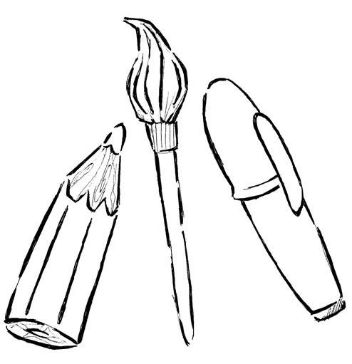 Kleurplaat 70 Desenho De Material Escolar Atividade Com Desenhos Qdb