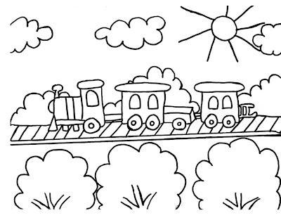 Desenho De Trem Para Colorir Ou Se Preferir Desenhos De Maria