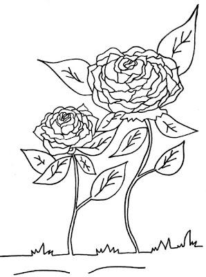 Desenho De Flor Para Colorir Rosas As Mais Belas Flores