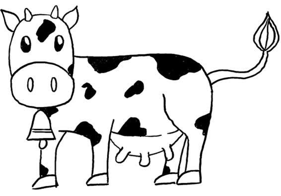 Desenhos Para Colorir De Vaca Desenhos Diversos De Animais Para