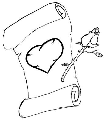 Coracao Desenho Para Colorir De Coracao Belos Desenhos De