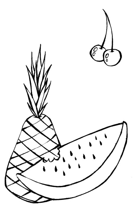 Frutas Para Colorir Desenhos E Risco Para Panos De Prato