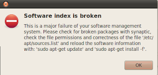Software index is broken on Ubuntu