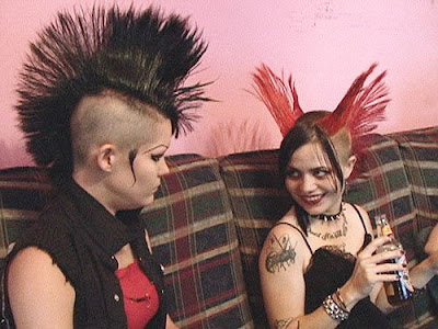 The punk hairstyle for men is hilarious,