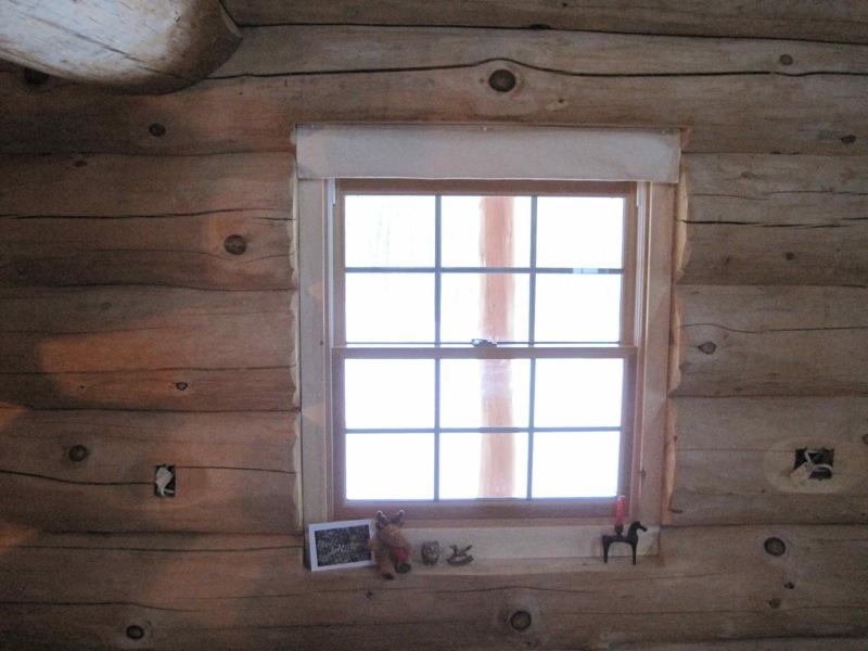 Log House Progress Angara At Blind River Window And