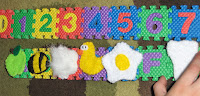 small abc foam tiles activities