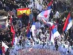 manifestació de la minoria sèrbia contra kosovo