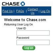 chase bank online personal banking login