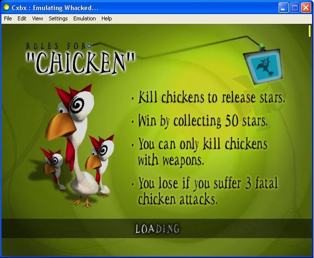 Blueshogun's Cxbx/XQemu Blog: Whacked! is playable and more