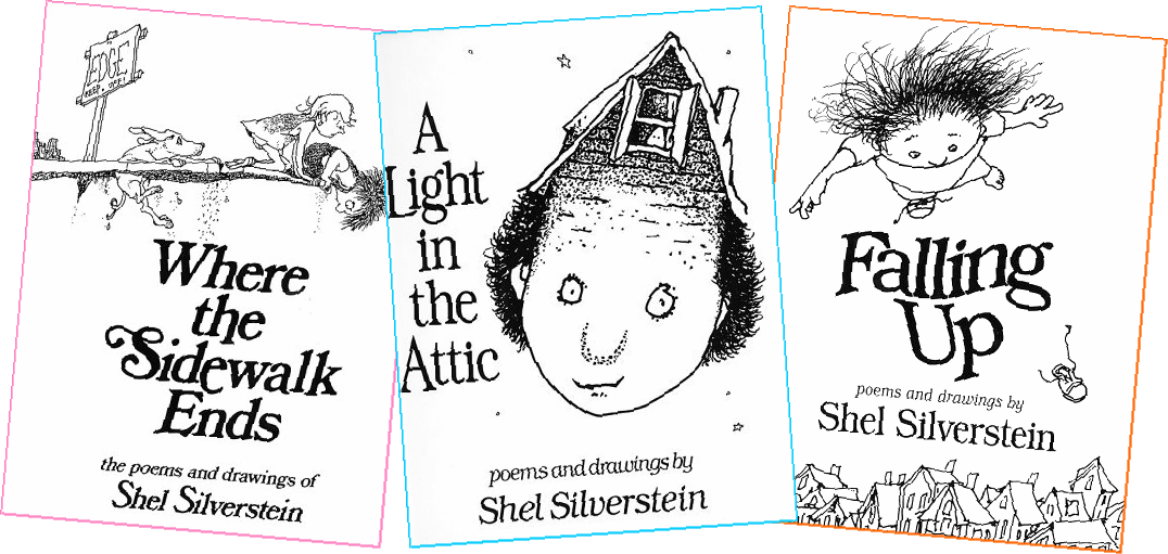 Shel Silverstein Illustrations: Sunshine And Bones: 30 Day Book Challenge: Day 9 And 10