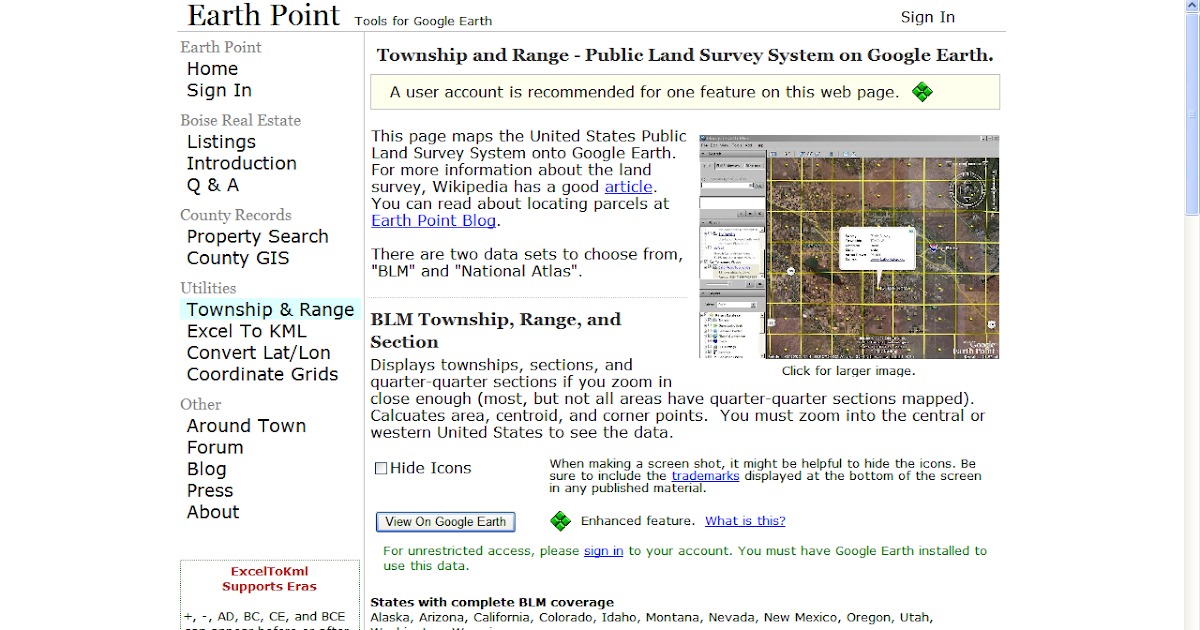 Genea-Musings: Using Google Earth to find land location in