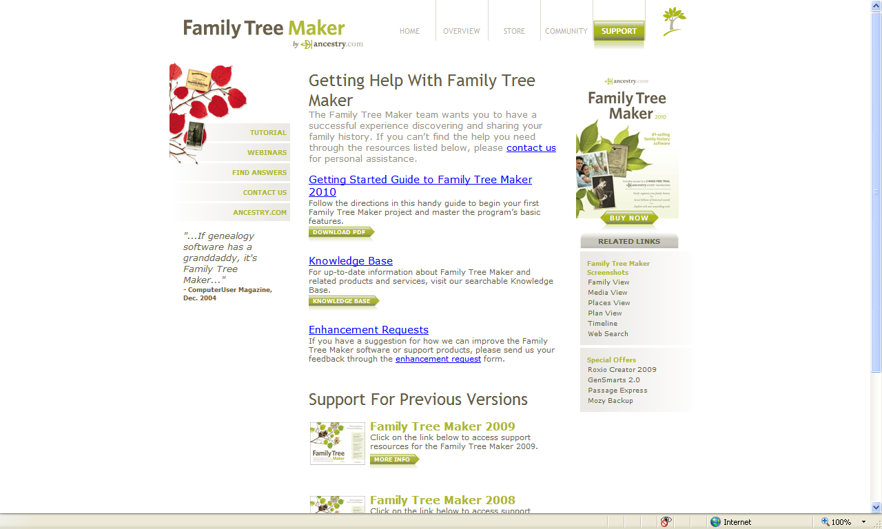 Genea-Musings: Getting Help for Family Tree Maker 2010