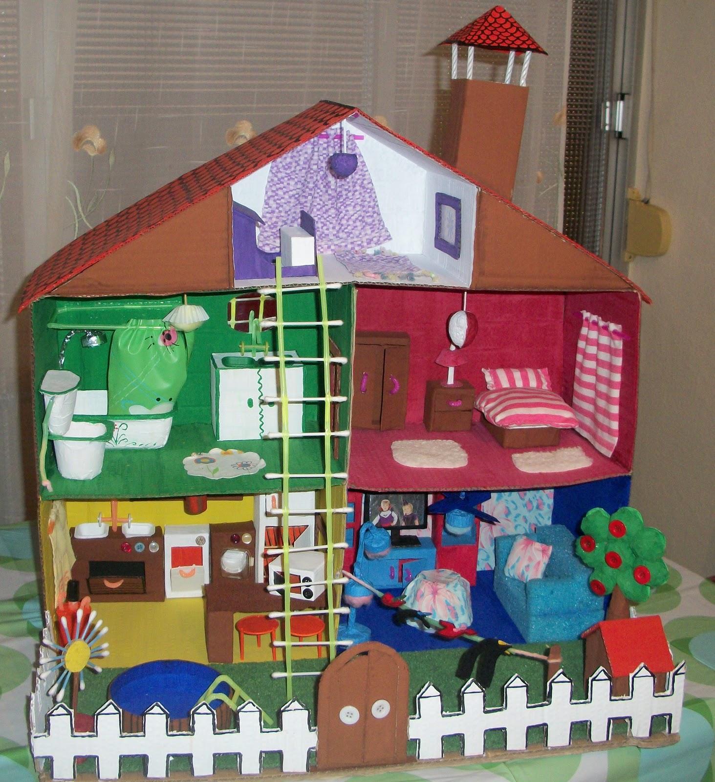 Maravillapinolandia juguete con materiales reciclados Casas hechas de carton
