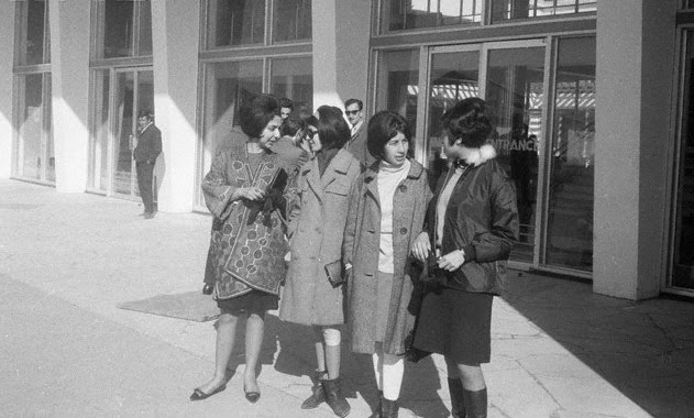 Young Afghan women in Western fashions, 1967