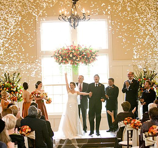 Unique Wedding Ceremony Ideas: The Non-toss Ceremony Exit