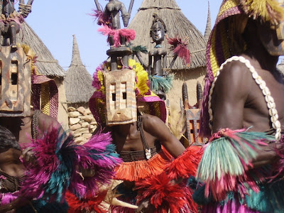 World Renowned Dogon Expert Proves Celestial Beings Meddled in Our Past Dogon+dancers+masks