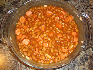 This beans and dogs recipe is super simple and easy to make. It is a huge kid-pleaser and takes only 6 ingredients you usually have on hand. #WomenLivingWell #kidfriendly #beans #hotdogs