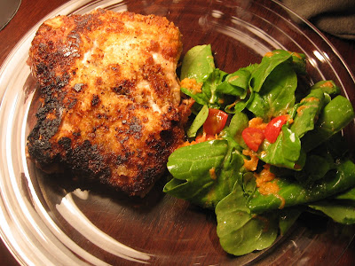 The gourmet project veal chop schnitzel with arugula salad page 454 this recipe came off the list generated by the random number generator the butcher didnt have any veal rib chops available so we used the only bone in forumfinder Image collections