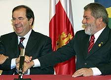 El Presidente Herrera, con Lula Da Silva