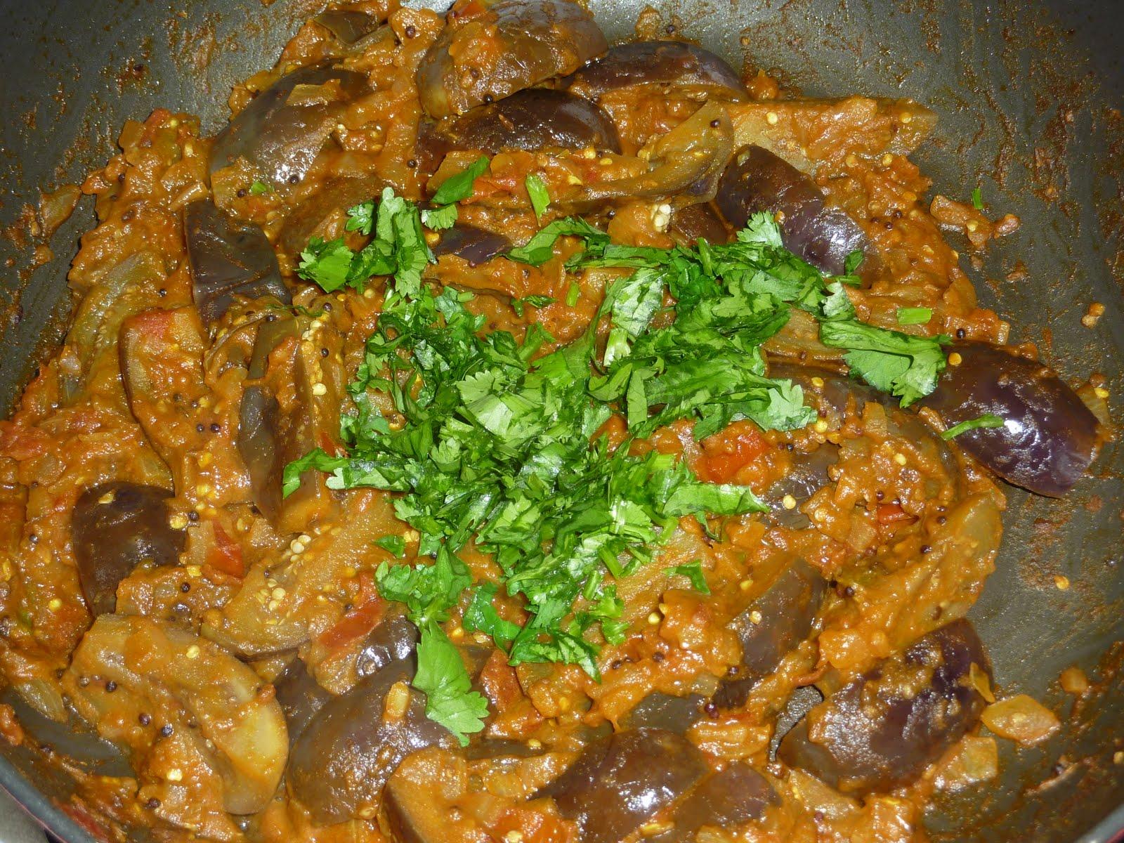 Aaha Oho: Indian Eggplant(Brinjal) Curry  Aaha Oho: India...