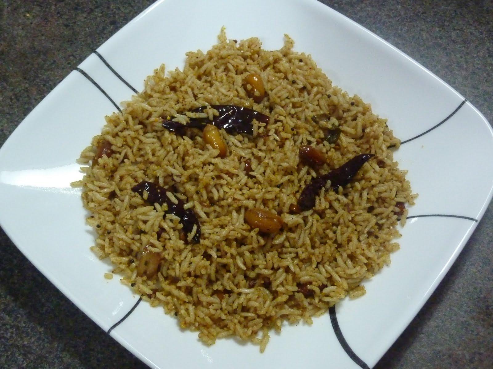 Tamarind Rice Recipe  Dishmaps