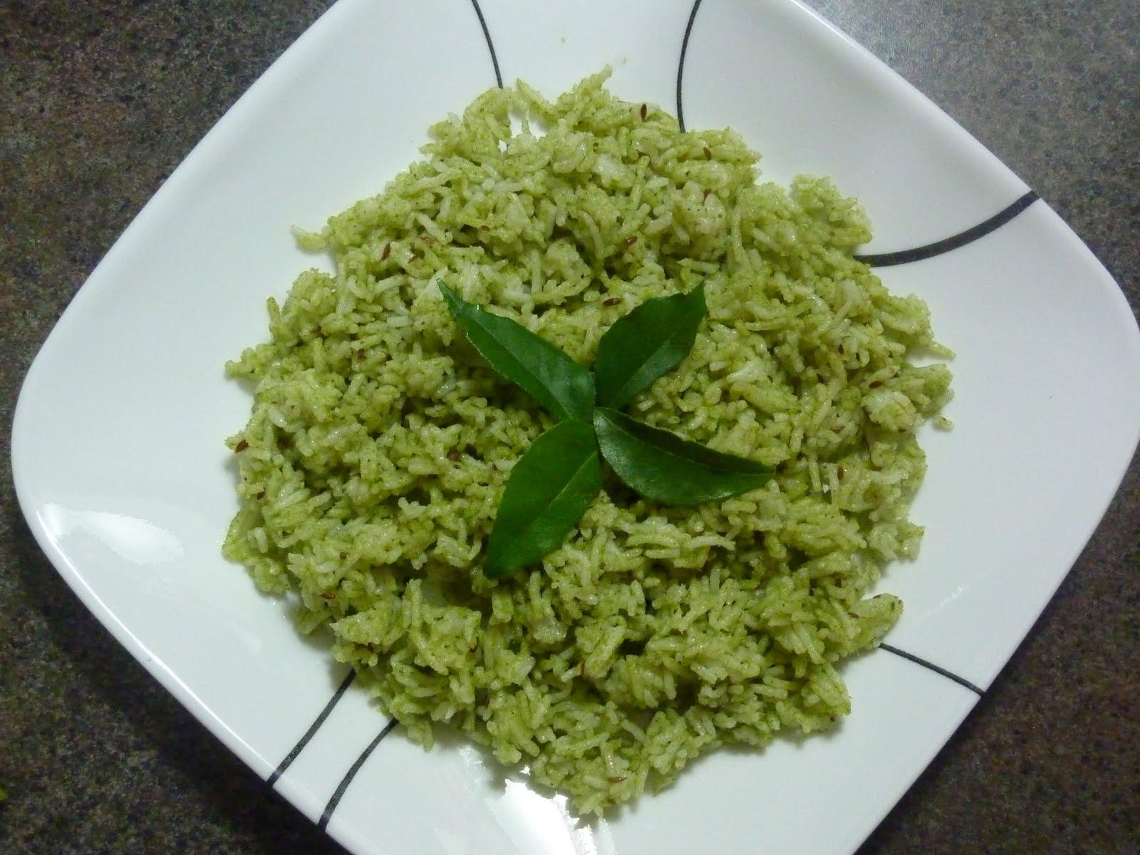 aaha oho curry leaf rice