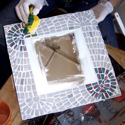 Mosaico creativo de fj mosaic art mosaico como hacer un for Decoracion de espejos paso a paso