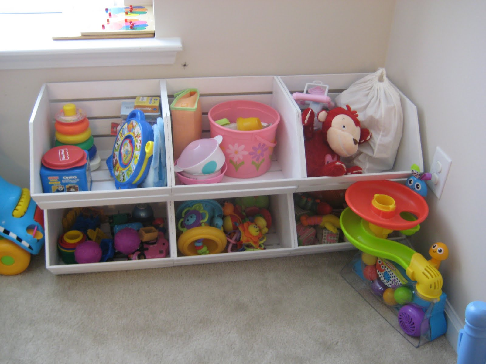 Toy Bin Organizer Kids Childrens Storage Box Playroom: Leaf And Letter Handmade: Pottery Barn Kids-esque Toy Storage