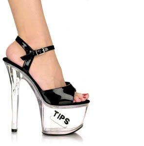 Stripper Heels With Tip Slot