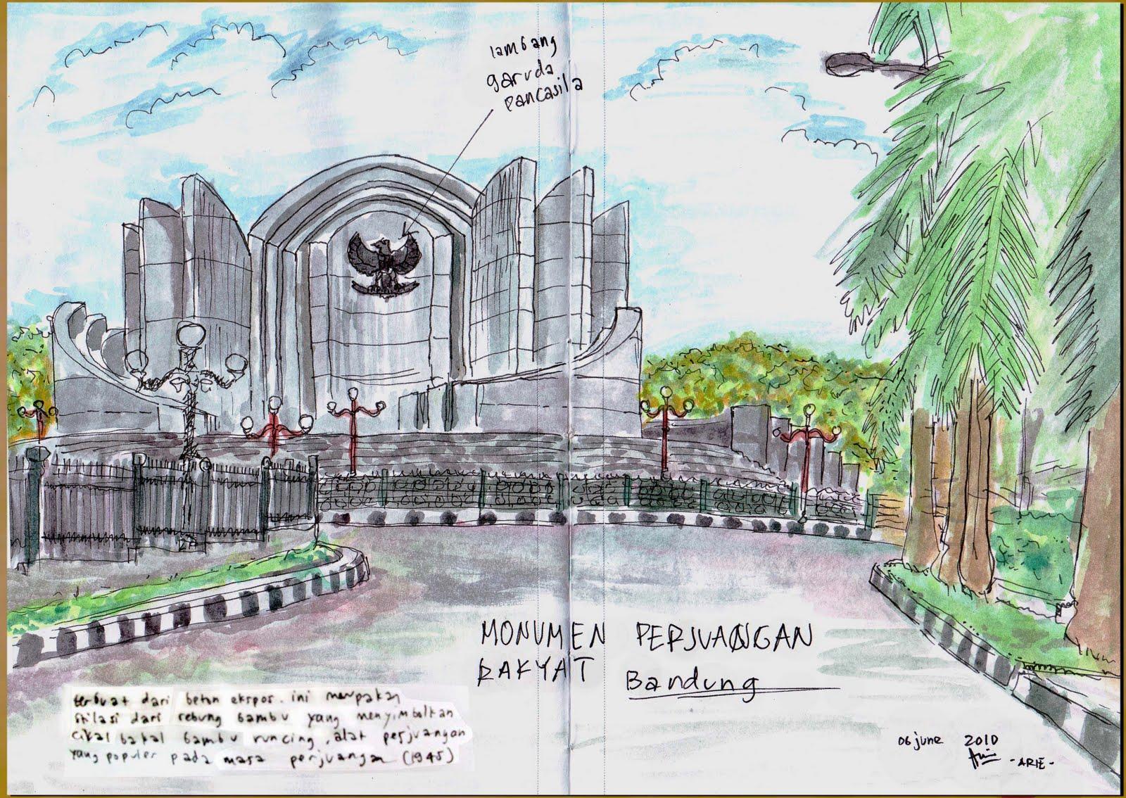 Indonesias Sketchers Monumen perjuangan bandung