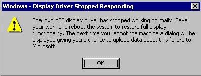 stopped responding