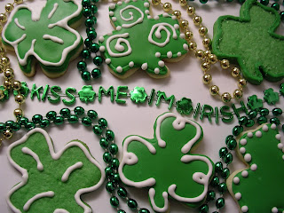 St. Patrick's Day Sugar Cookies with Royal Icing