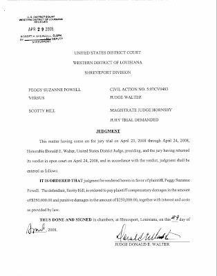 Judgement Against Scotty Hill