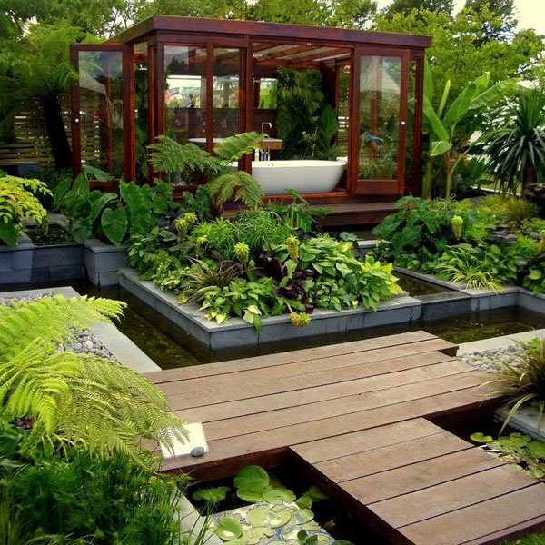 Tropical Home Garden Design Ideas: Tropical Zen Garden Design Photograph