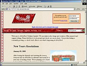The AbbyShot Website, Circa 2003