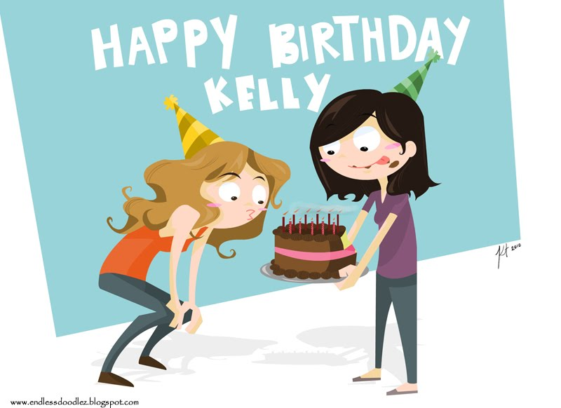 Endless Doodlez Happy Birthday Kelly