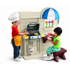 LittleTikes Play Kitchen Realistic Outdoor Cook Grill ...