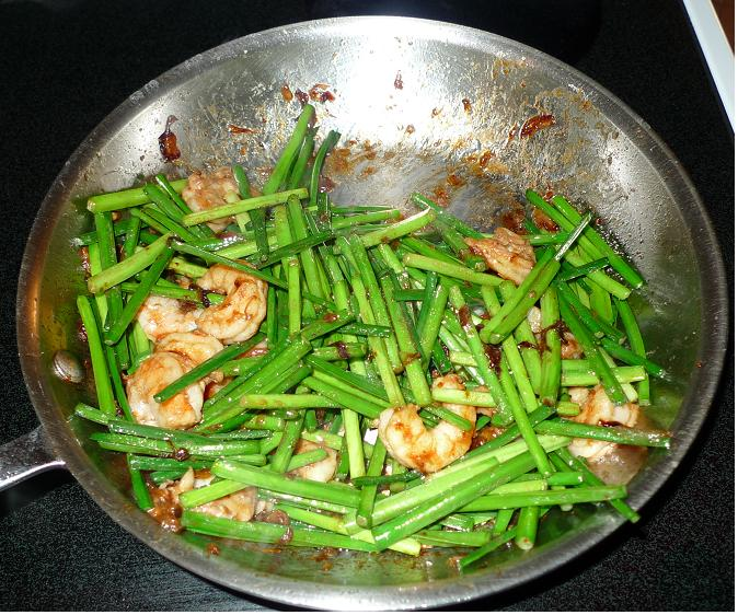 Thai Kitchen Chester: Amporn's Thai Kitchen: Stir-fried Chinese Chives With