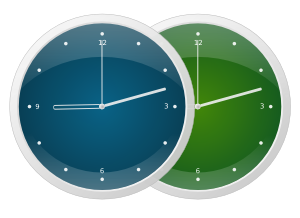 Design Shiny Clock Using Inkscape