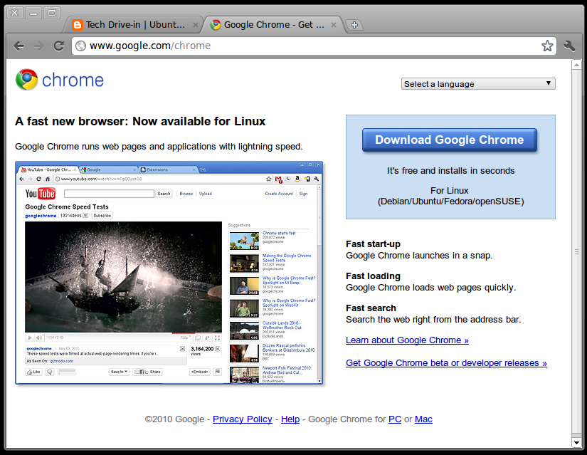 Google Chrome 8 0 Stable for Linux is Here!