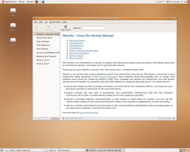 travel through the history of ubuntu