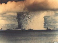 BAKER-BIKINI: Test:Baker; Date:July 24 1946; Operation:Crossroads; Site:Bikini Atoll lagoon, Marshall Islands; Detonation:Underwater, depth - 90ft(27.5m); Yield:23kt; Type:Fission