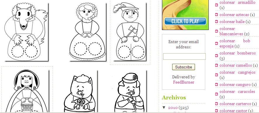 Dibujos De Marionetas Para Imprimir Y Colorear: EL MALETÍN DE AUDICIÓN Y LENGUAJE: Marionetas Para Imprimir