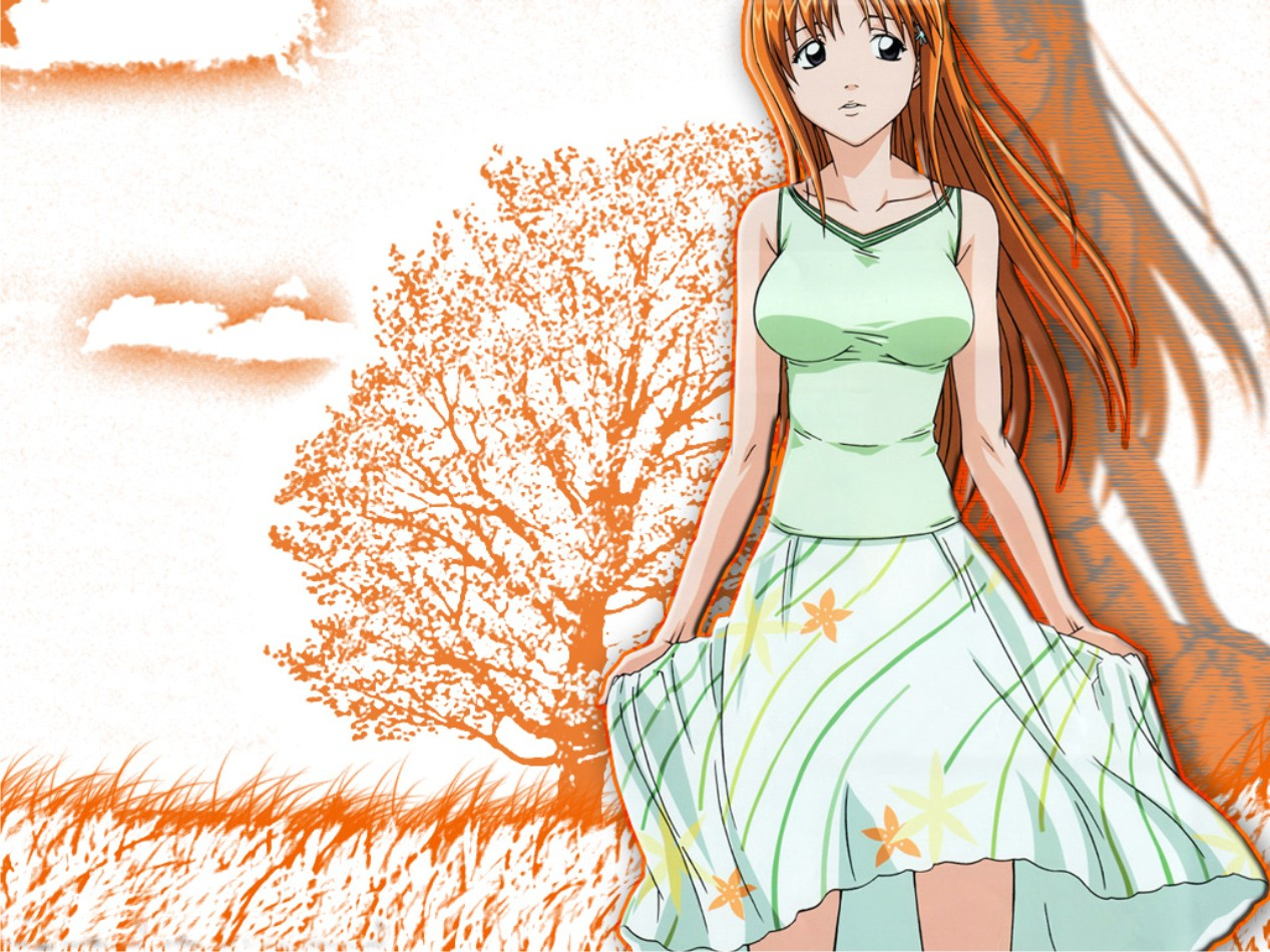 Anime Wallpaper Bleach Baggrund - Orihime Inoue-5789