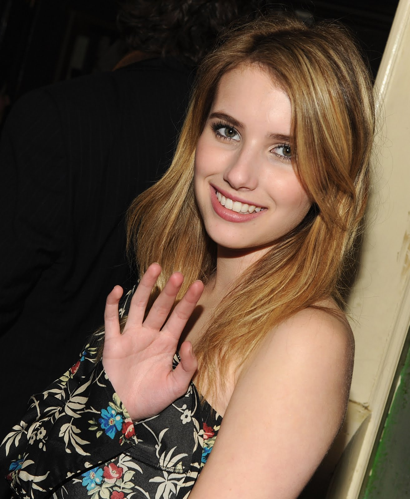 emma roberts breast