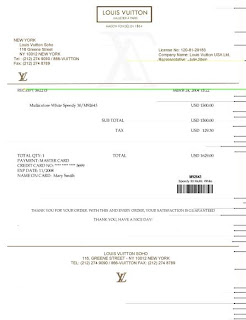 Lv Receipts Templates