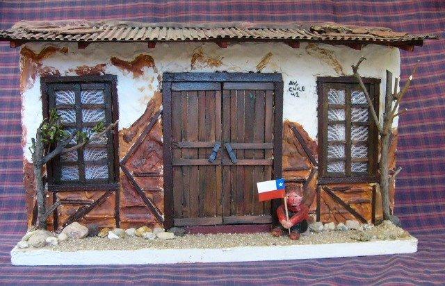 Retablos catalina reyes todo un mundo en miniatura - Fachadas antiguas de casas ...