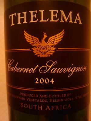 Wine In Sweden Tn Thelema Cabernet Sauvignon 2004