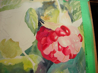 Raspberry painting progress photo 1
